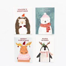 Boxed Cards Animals Assorted  Set Of 12