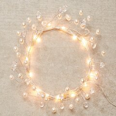 LED Pearl 18-Light Outdoor Strand – Warm White, 6'