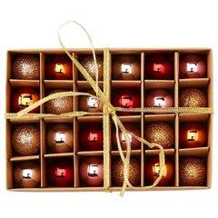 Mini décorations de Noël – Chaleureux, ensemble de 24