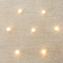 Guirlande de 30 lumières DEL en verre craquelé – 120 po