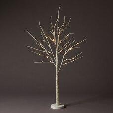 4-FT ICED WHITE LED BIRCH TREE
