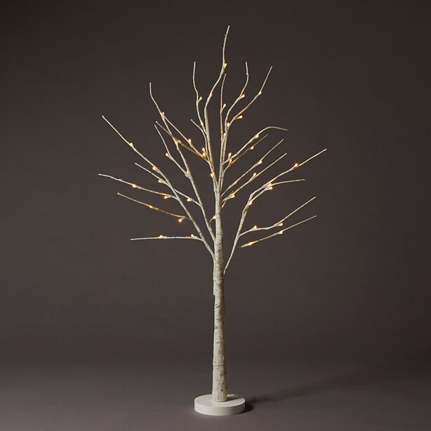 4-FT ICED WHITE LED BIRCH TREE