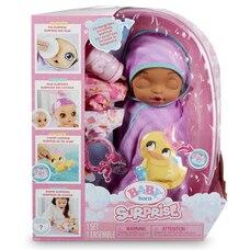 Baby Born Surprise Bathtub Surprise Purple Swaddle Kitty Ears
