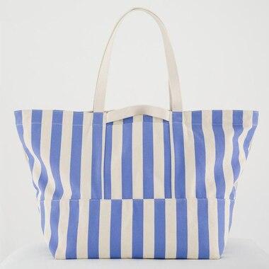 BAGGU Weekend Bag - Cornflower Stripe