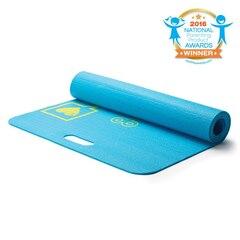 Merrithew™ Kids Yoga and Exercise Mat, Aqua Pixel the Robot 0.15 inch / 4 mm