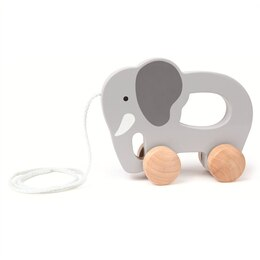 Hape Pull Toy - Wooden Elephant