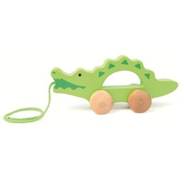 Hape Pull Toy - Wooden Crocodile
