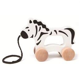 Hape Pull Toy - Wooden Zebra