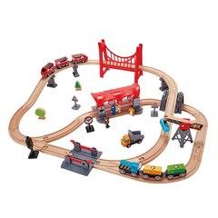 Hape Busy Railway Set Double-Looped City