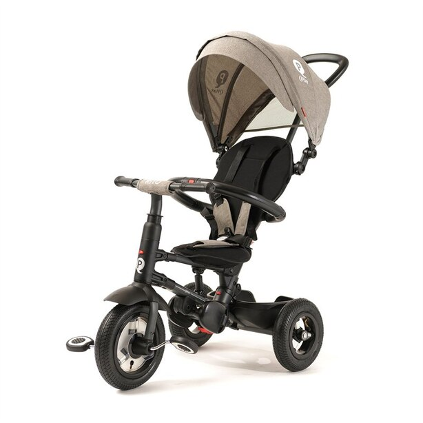 QPlay Rito Plus Pousette/Tricycle Pliable Gris