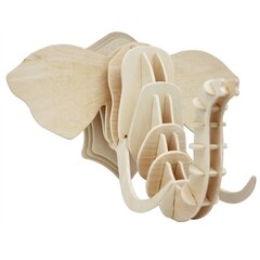 3D Wooden Elephant Head Puzzle