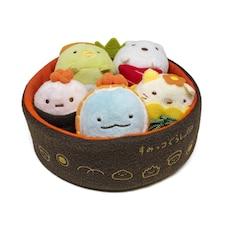 Petit bol à sushi en peluche avec des animaux en peluche Sumikko Gurashi
