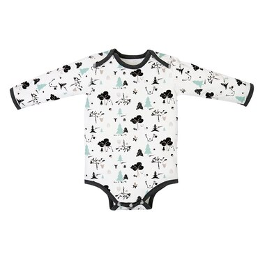 Nest Designs® Long Sleeve Onesie Organic Cotton Forest Friends 3 to 6 Months