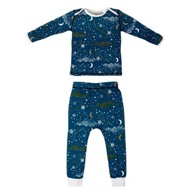 Nest Designs® Pajama Set Organic Cotton Stars Blue Size 2T