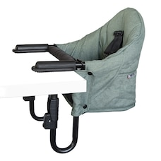 GUZZIE+GUSS PERCH COUNTER CLIP-ON CHAIR FOREST GREEN