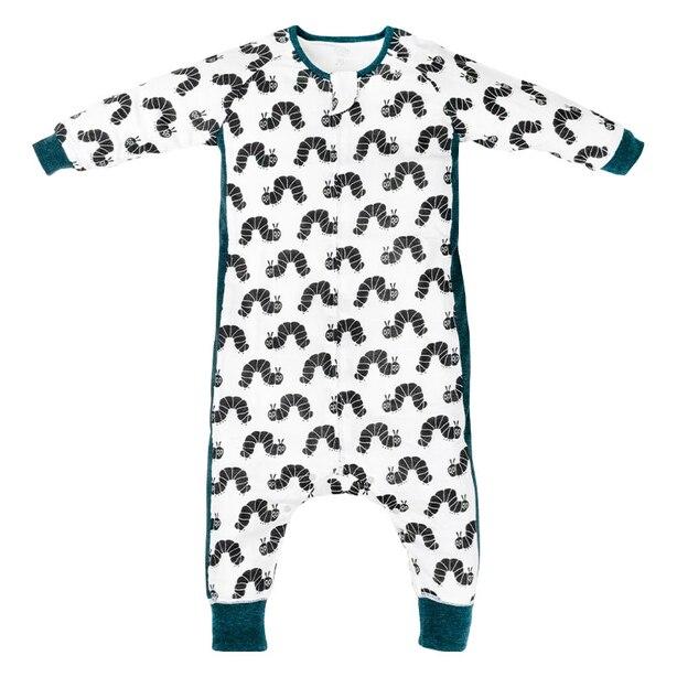 Nest Designs Eric Carle Bamboo Long Sleeve Sleep Suit 0.6 TOG - Black Caterpillar - Small