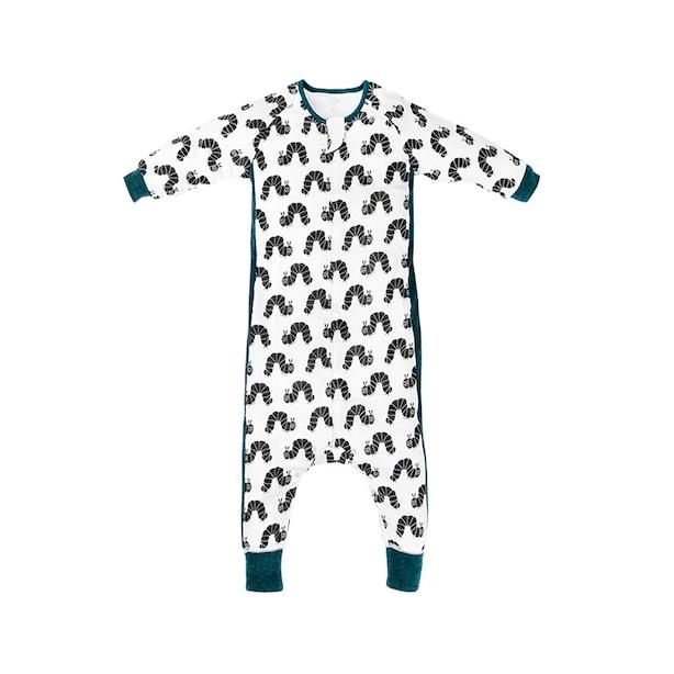 Eric Carle Bamboo Long Sleeve Sleep Suit 0.6 TOG - Black Caterpillar -  2.5 Toddlers - 4 Toddlers