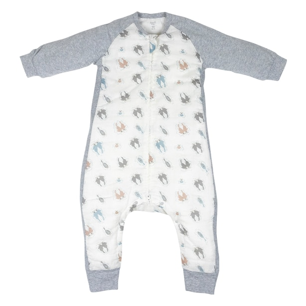 Nest Designs Raglan Bamboo Long Sleeve Cozy Sleep Suit 2.5 TOG - Otter Love Size 18M-2.5T