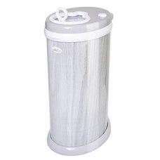Ubbi Steel Diaper Pail - Gray Wood Grain