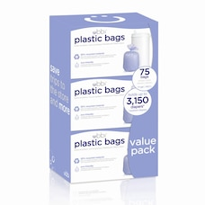 Ubbi Plastic Bags for Diaper Pails - 3 - Pack (75 Bags Each)