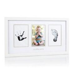 Cadre-souvenir pour photo et empreinte de bébé Pearhead
