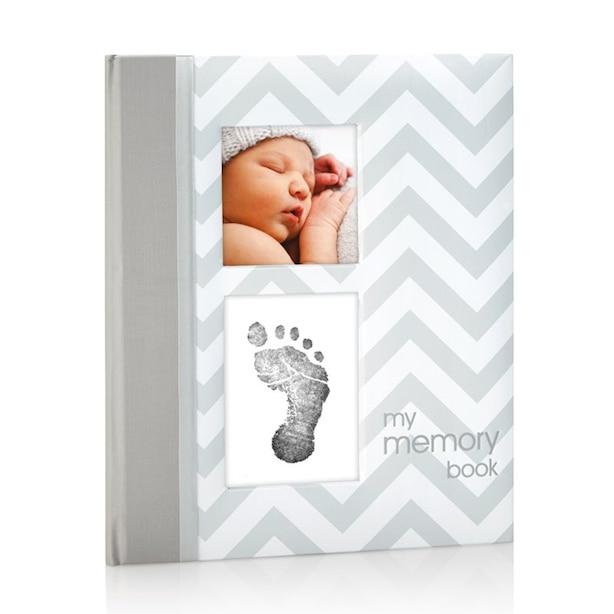 Pearhead Chevron Baby Book - Grey