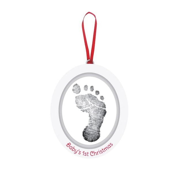 Pearhead Babyprints Ornament Wooden Oval Photo Frame