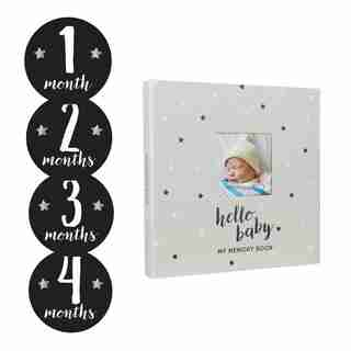 Baby's memory book and sticker set - Stars