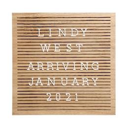 Pearhead Wooden Letterboard