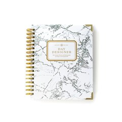 2017-2018 Day Designer Mid Year Flagship Planner - White Marble