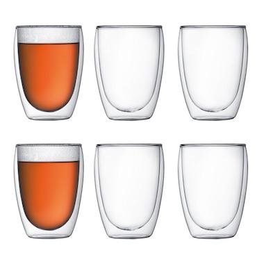 Bodum®Pavina Double-Wall 12-oz. Glass – Set of 6