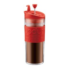 BODUM TRAVEL PRESS - RED, 15 OZ