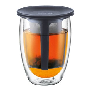 Bodum® Tea for One 12-oz. Glass with Infuser – Black