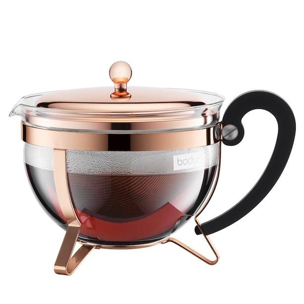 BODUM CHAMBORD TEA PRESS TEAPOT COPPER 1.3L