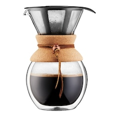 BODUM POUROVER DOUBLE WALL COFFEE MAKER WITH FILTER 1L