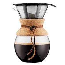 Cafetière Bodum Pour-Over avec filtre permanent et prise en liège — Donne 8 tasses