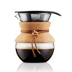 Bodum®Pour-Over Coffee Maker with Filter and Cork Grip – 4-Cup