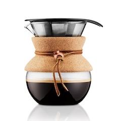 Cafetière Bodum Pour-Over avec filtre permanent et prise en liège — Donne 4 tasses
