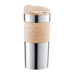 Tasse de voyage Bodum Travel Mug en acier inoxydable — Beige, 12oz.
