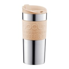 Bodum®12-oz. Stainless Steel Travel Mug Stainless Steel – Cream