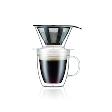 Bodum Pour Over Coffee Dripper and Double Wall Mug 350 ml