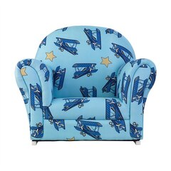 Upholstered Chair with Slip Cover - Airplanes
