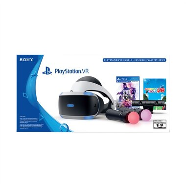 PLAYSTATION VR HEADSET + CAMERA + MOVE CONTROLLERS + BLOODTRUTH/EVERY GOLF | PSVR