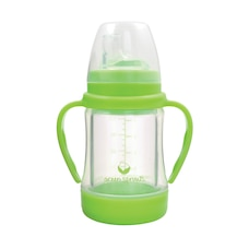 Sip & Straw Cup made from Glass-4oz-Green