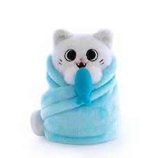 Purritos Wrapped Plush Cat Fishbone
