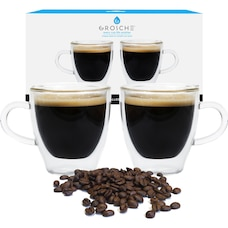GROSCHE TURIN Double Wall Espresso Cups - SET OF 2,  70ML