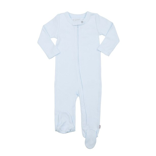 100% Organic Solid Footie - Size 0 - 3 Months - Blue