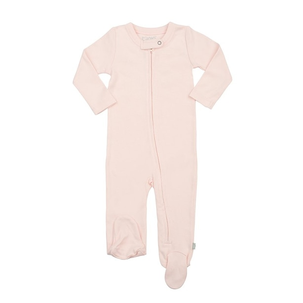 100% Organic Solid Footie - Size 6 - 9 Months - Pink