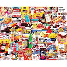 White Mountain Puzzles Casse-tête de 1000 pièces – Les choses que j'ai mangées quand j'étais enfant