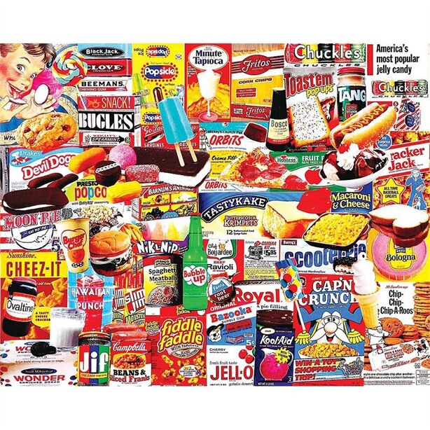 White Mountain Puzzles Things I Ate As A Kid 1000 Piece Puzzle